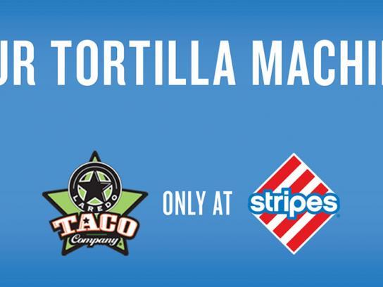 Stripes Convenience Stores Print Ad -  Tortilla Machine
