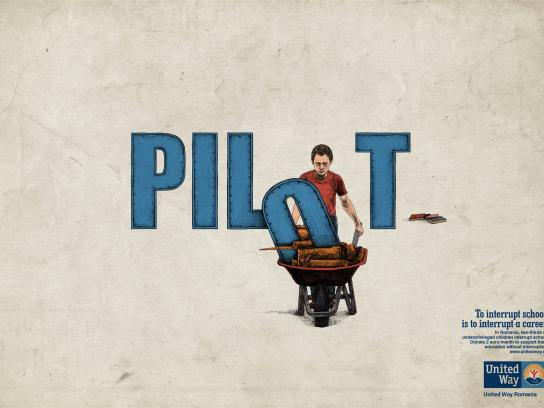 United Way Print Ad - Education Without Interruption - Pilot