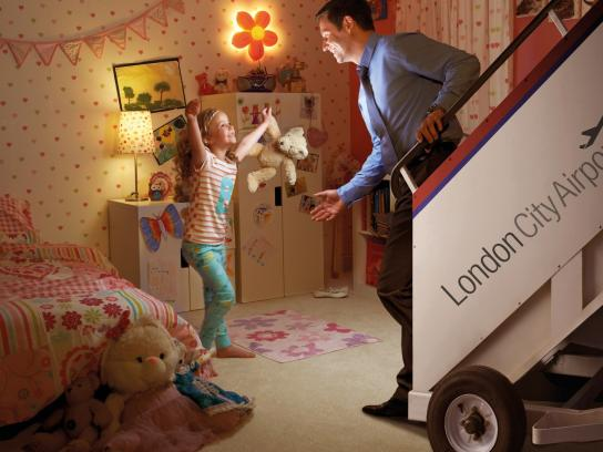 London City Airport Print Ad -  Bedroom