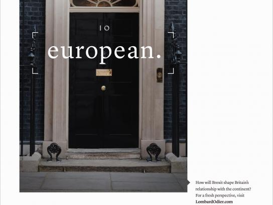 Lombard Odier Print Ad - European