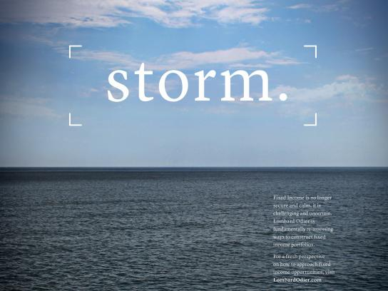 Lombard Odier Print Ad - Storm