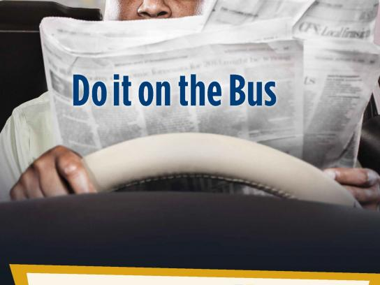 Halifax Regional Municipality Outdoor Ad -  Do It On The Bus, Newspaper