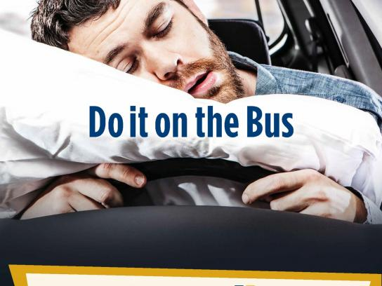 Halifax Regional Municipality Outdoor Ad -  Do It On The Bus, Sleep