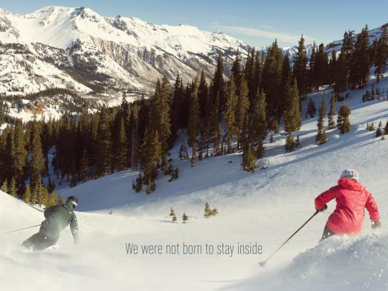 Colorado Print Ad -  We were not born to stay inside