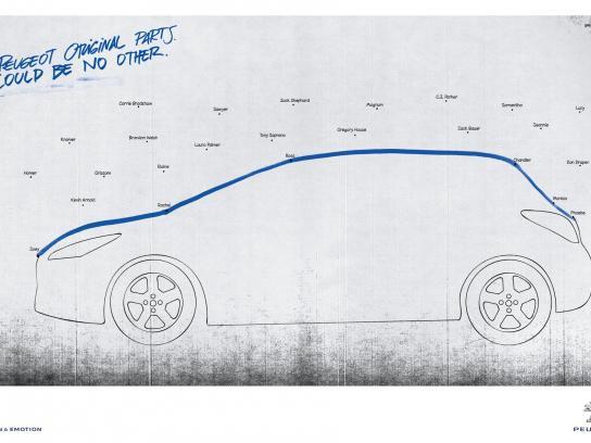 Peugeot Print Ad -  Friends