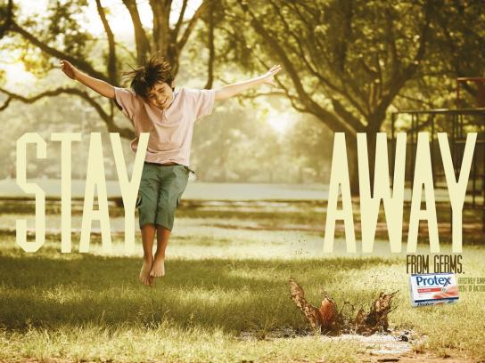 Protex Print Ad -  Stay Away, Mud