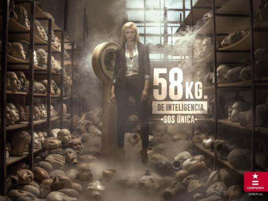 Uniform Jeans Print Ad -  Intelligence