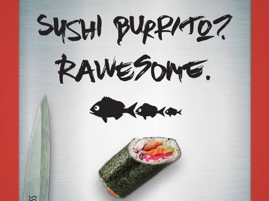 Sono Sushi Print Ad - BURRITO