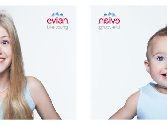 Evian Print Ad -  Lisette & Ambre