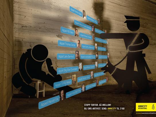 Amnesty International Print Ad -  Stop torture, 3