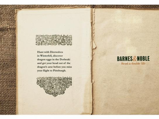 Barnes & Noble Print Ad -  Read a double life, 1