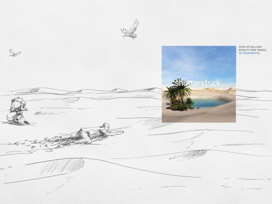Shutterstock Print Ad - The Sketch Saver, Desert
