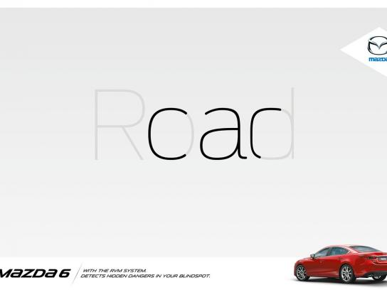 Mazda Print Ad -  Road/car