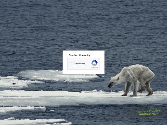 Greenpeace Print Ad - Humanity, 1