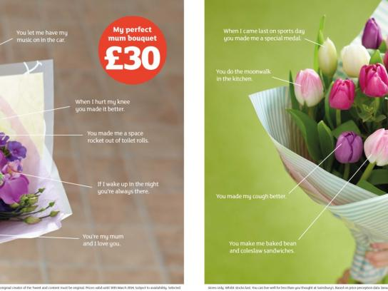 Sainsbury's Print Ad -  Mother's Day flowers