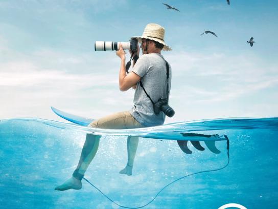 Associação Surf Social Wave Print Ad - Depois da onda há muito mar, 2