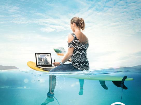 Associação Surf Social Wave Print Ad - Depois da onda há muito mar, 3