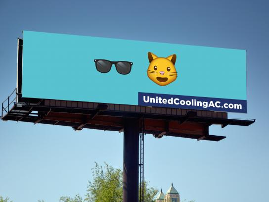 United Heating & Cooling Outdoor Ad - Cool Cat