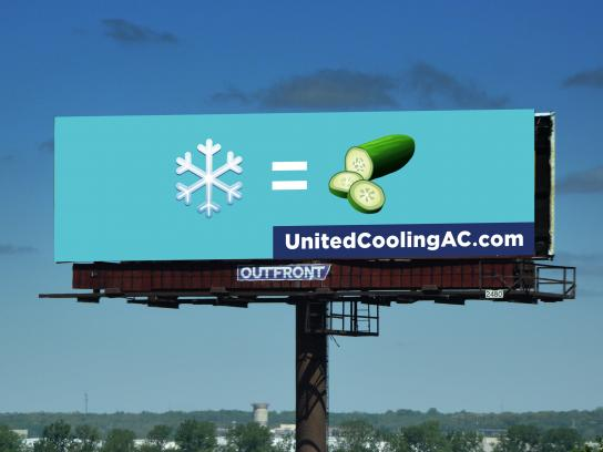 United Heating & Cooling Outdoor Ad - Cool as a Cucumber