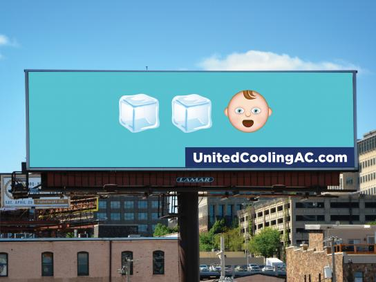United Heating & Cooling Outdoor Ad - Ice Ice Baby