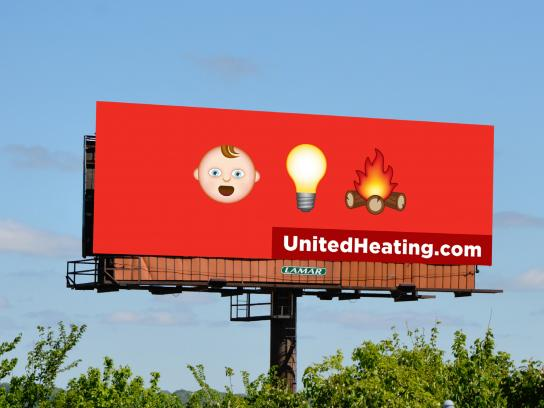 United Heating & Cooling Outdoor Ad - Baby Light My Fire