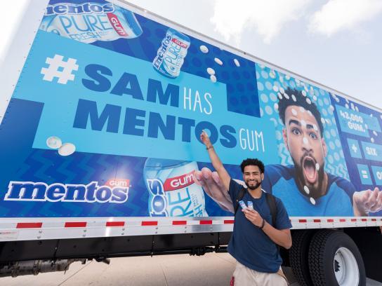 Mentos Experiential Ad - #SamHasMentosGum - The Challenge