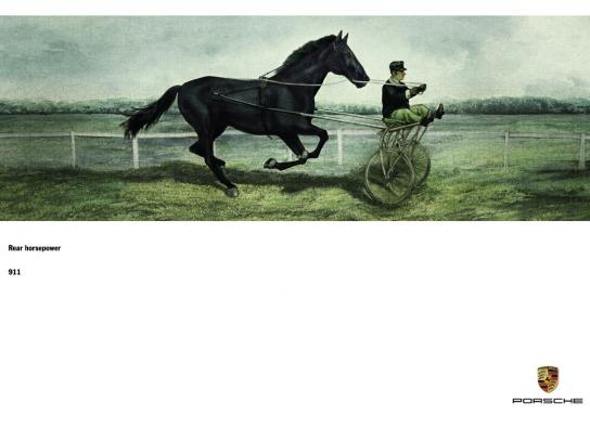 Porsche Outdoor Ad -  Rear horsepower, 1