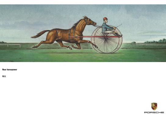 Porsche Outdoor Ad -  Rear horsepower, 2