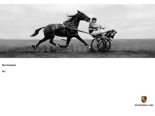 Porsche Outdoor Ad -  Rear horsepower, 4