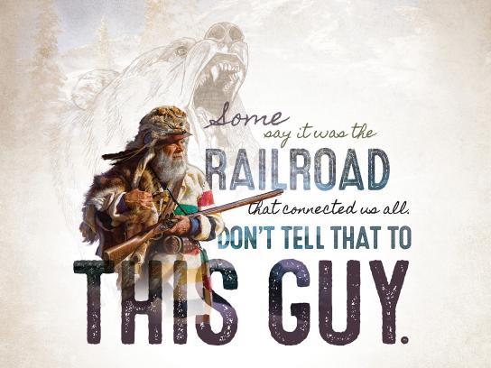 Canadian Canoe Museum Print Ad - Railroad