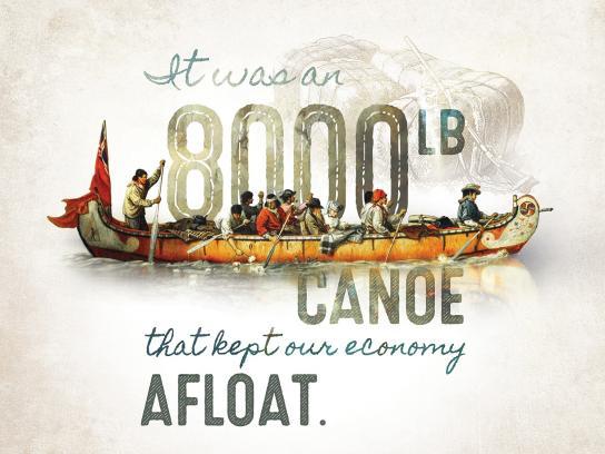 Canadian Canoe Museum Print Ad - 8000lb Canoe
