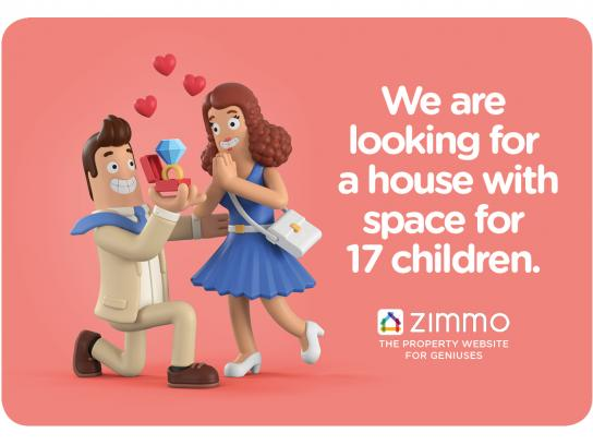 Zimmo Print Ad - The Property Website for Geniuses, 2