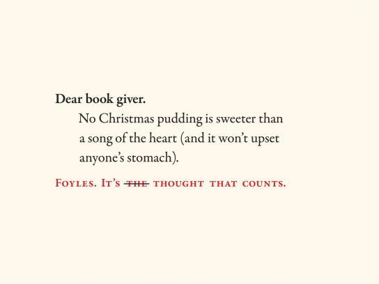 Foyles Outdoor Ad -  Dear book giver, 3