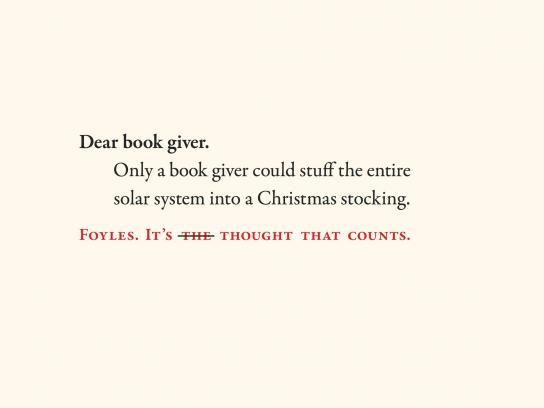 Foyles Outdoor Ad -  Dear book giver, 4