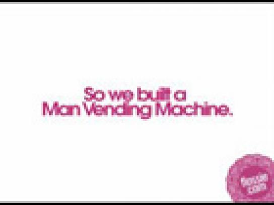 Flossie Ambient Ad -  Man vending machine