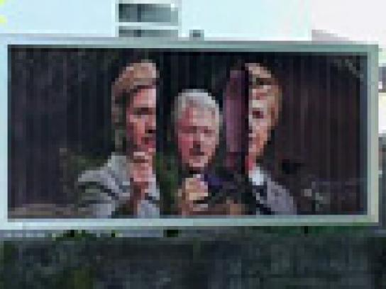 Sonntags Zeitung Outdoor Ad -  US Election Campaign, Hillary