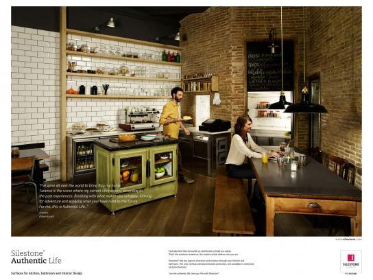 Silestone Print Ad -  Silestone Authentic Life, 1