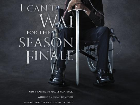 Re-born To Be Alive Print Ad - I can't wait for the season finale