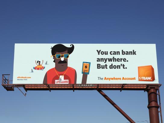 FirstBank Outdoor Ad - Lifeguard