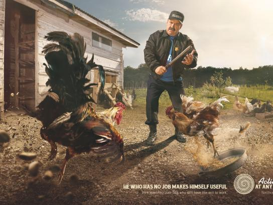 Active At Any Age Print Ad -  Roosters