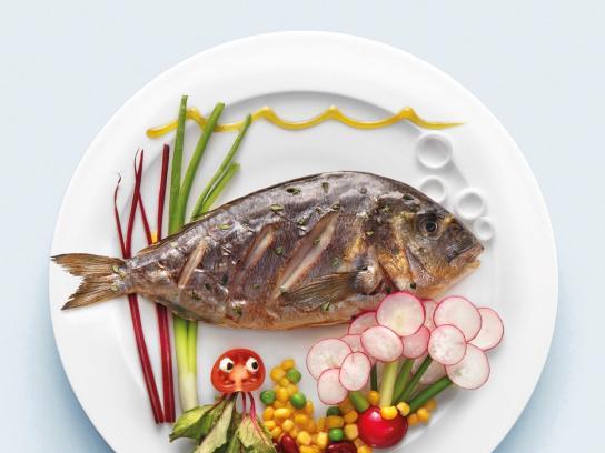 AB Vasilopoulos Print Ad -  Fish