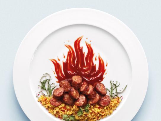 AB Vasilopoulos Print Ad -  Sausages