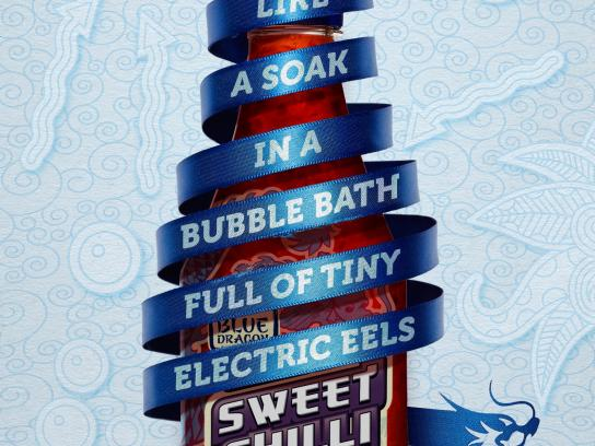 Blue Dragon Sweet Chilli Sauce Print Ad -  Electric eels