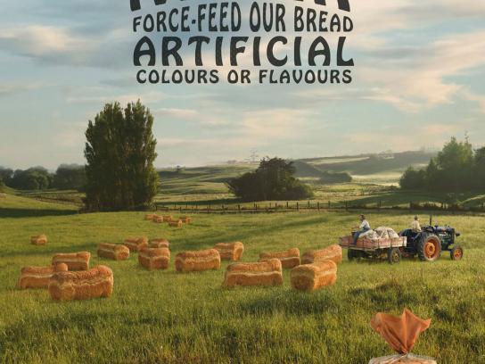 Abbott's Village Bakery Outdoor Ad -  Free Range Bread Farm