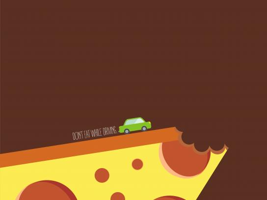 Au Bon Pain Print Ad - Don't Eat While Driving, 2