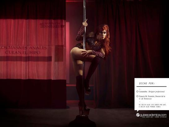 Guia Academica Print Ad -  Stripper