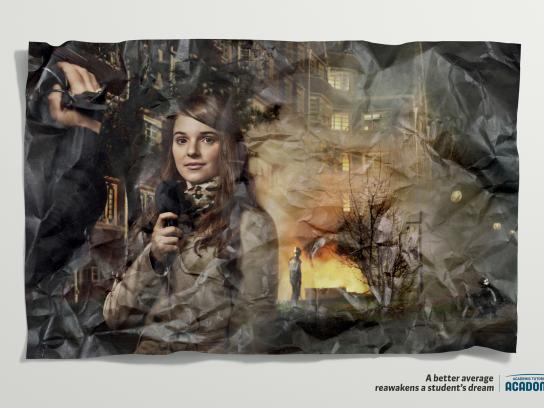 Acadomia Print Ad -  Reporter