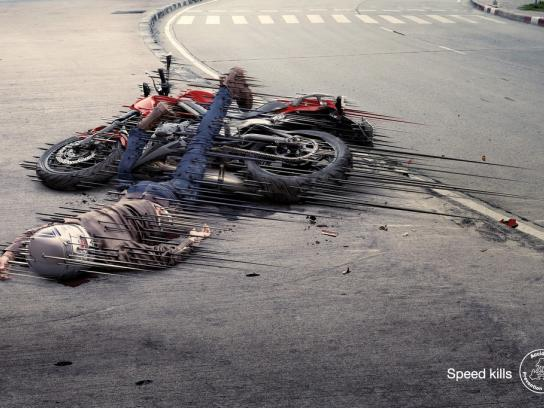 Accident Prevention Network Print Ad -  Motorcycle