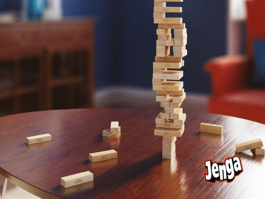 Hasbro Print Ad - Jenga Towers Campaign, 2