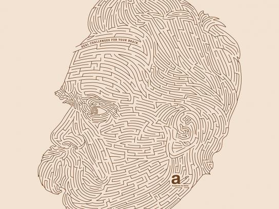 Academia de Ideias Print Ad -  Labyrinth, Nietzsche